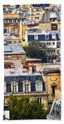 Paris Rooftops Beach Towel by Elena Elisseeva