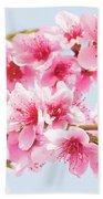 Peach Flowers Beach Towel