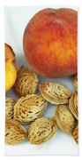 Peaches And Pits Beach Towel