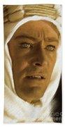 Peter O'toole As Lawrence Of Arabia Beach Towel