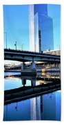 Philly Over The Schuylkill Beach Towel