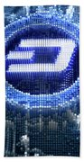 Pixel Dash Concept Beach Towel