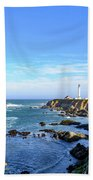 Point Arena Lighthouse Beach Towel by Jim Thompson