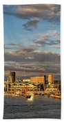 Portsmouth Harbour England  Beach Towel