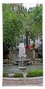 Public Fountain And Gardens In Palma Majorca Spain Beach Towel
