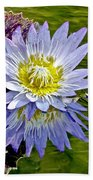 Purple Water Lily Pond Flower Wall Decor Beach Towel