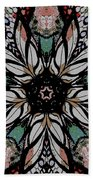 Quilted Starflower Beach Towel