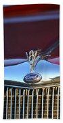 Red Ford Hotrod Beach Sheet