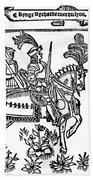 Richard I (1157-1199) Beach Towel