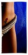 Rope Around Woman's Waist Beach Towel