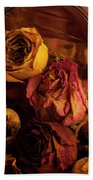 Roses Spilling Out Of Vase Beach Towel