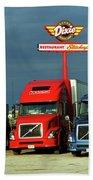 Route 66 - Dixie Truckers Home Beach Towel