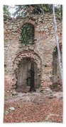 Ruins Of The Baroque Chapel Of Saint Mary Magdalene Beach Towel