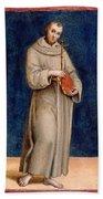 Saint Francis Of Assisi Beach Towel