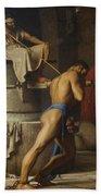 Samson And The Philistines Beach Towel