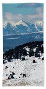 Sangre De Cristo Mountains In Winter Beach Towel