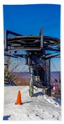 Scenery Around Timberline Ski Resort West Virginia Beach Towel