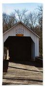 Sheards Mill Covered Bridge - Bucks County Pa Beach Sheet