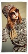 Sixties Retro Fashion Beach Sheet