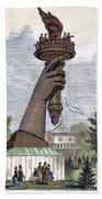 Statue Of Liberty, 1876 Beach Towel