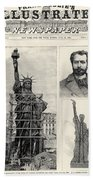 Statue Of Liberty, 1885 Beach Towel