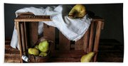 Still-life With Pears Beach Sheet