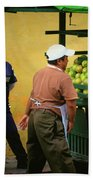 Street Vendor - Antigua Guatemala Beach Towel