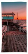 Sunset At Langedrag, Gothenburg Beach Towel