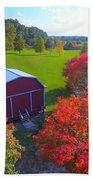 Sunset Hill Farms Indiana  Beach Towel