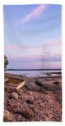 Sunset In New England Beach Towel