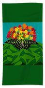 Tailed Jay Beach Towel