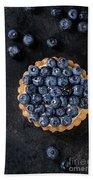 Tartlet With Blueberries Beach Sheet