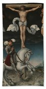 The Crucifixion With The Converted Centurion Beach Towel