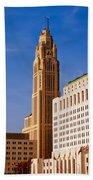 The Leveque Tower Of Columbus Ohio Beach Towel