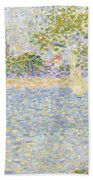The Seine Seen From La Grande Jatte Beach Towel