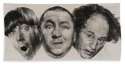 The Three Stooges Hollywood Legends Beach Towel