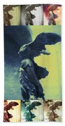 The Winged Victory - Paris - Louvre Beach Towel by Marianna Mills