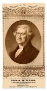 Thomas Jefferson Beach Towel by War Is Hell Store