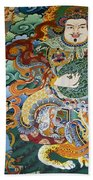Tibetan Buddhist Mural Beach Towel