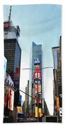Times Square New York City Beach Towel