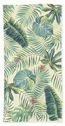 Tropical Leaves Pattern Beach Towel