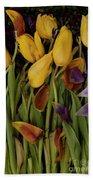 Tulips Wilting Beach Towel