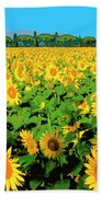 Tuscany Sunflowers Beach Towel