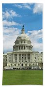 Us Capitol Washington Dc Negative Beach Towel