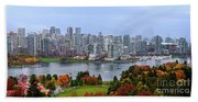 Vancouver In Fall Beach Towel