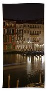 Venice By Night Beach Towel by Joana Kruse