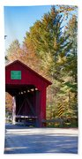 Vermonts Moseley Covered Bridge Beach Towel