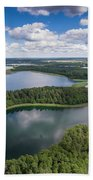 View Of Small Islands On The Lake In Masuria And Podlasie  Beach Towel
