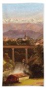 views of Bern and the Bernese Oberland Beach Towel