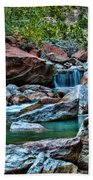 Virgin River Zion  Beach Towel